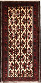Baluch Rug 105X205 Authentic  Oriental Handknotted Dark Red (Wool, Persia/Iran)