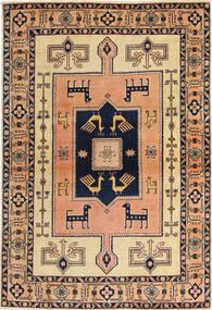 Ardebil Patina Teppich 100X147 Echter Orientalischer Handgeknüpfter Hellbraun/Dunkelblau (Wolle, Persien/Iran)