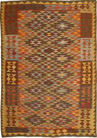 Kelim Afghan Old Style Teppe 159X238 Ekte Orientalsk Håndvevd Brun/Rust (Ull, Afghanistan)
