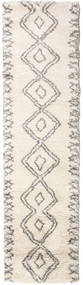 Berber Shaggy Massin Rug 80X300 Modern Hallway Runner  Beige/Light Grey ( Turkey)