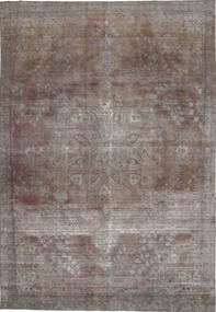 Colored Vintage Rug 231X336 Authentic  Modern Handknotted Light Grey/Light Brown (Wool, Persia/Iran)