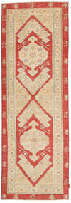 Ziegler Rug 86X278 Authentic  Oriental Handknotted Hallway Runner  Dark Beige/Light Brown (Wool, Pakistan)