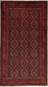 Beluch Teppe 100X185 Ekte Orientalsk Håndknyttet Mørk Rød/Mørk Brun (Ull, Persia/Iran)
