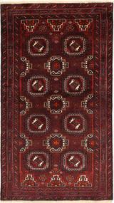 Beluch Teppe 103X185 Ekte Orientalsk Håndknyttet Mørk Rød/Mørk Brun (Ull, Persia/Iran)