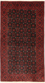 バルーチ 絨毯 105X197 オリエンタル 手織り 深紅色の (ウール, ペルシャ/イラン)