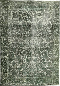 Colored Vintage Rug 255X365 Authentic  Modern Handknotted Dark Green/Dark Green Large (Wool, Persia/Iran)