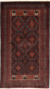 Baluch Rug 105X187 Authentic  Oriental Handknotted Dark Red (Wool, Persia/Iran)