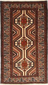 Beluch Matta 95X173 Äkta Orientalisk Handknuten Mörkbrun/Mörkröd (Ull, Persien/Iran)