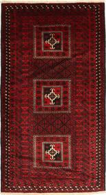 Beluch Matta 113X207 Äkta Orientalisk Handknuten Mörkröd/Röd (Ull, Persien/Iran)