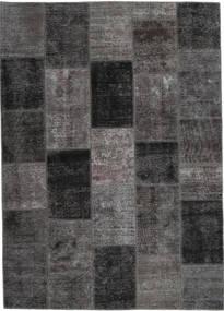 Patchwork Rug 164X234 Authentic  Modern Handknotted Dark Grey (Wool, Persia/Iran)