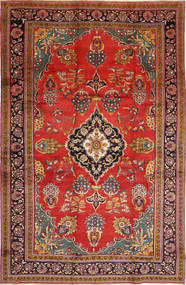 Golpayegan Rug 243X375 Authentic  Oriental Handknotted Dark Red/Rust Red (Wool, Persia/Iran)