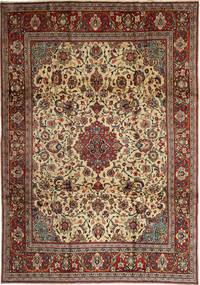 Sarouk Rug 230X337 Authentic  Oriental Handknotted Light Brown/Dark Red (Wool, Persia/Iran)