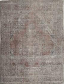 Colored Vintage Teppe 285X381 Ekte Moderne Håndknyttet Lys Grå/Mørk Grå Stort (Ull, Persia/Iran)
