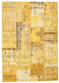 Patchwork Rug 162X227 Authentic  Modern Handknotted Yellow/Light Brown (Wool, Turkey)