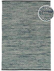Hugo - Petrol Tapis 160X230 Moderne Tissé À La Main Gris Clair/Bleu ( Inde)