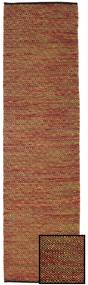 Hugo - Multi/Rust Rug 80X300 Authentic  Modern Handwoven Hallway Runner  Rust Red/Light Brown/Dark Brown ( India)