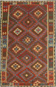 Kelim Afghan Old Style Tæppe 157X257 Ægte Orientalsk Håndvævet Mørkebrun/Mørkegrå (Uld, Afghanistan)