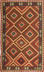 Kelim Afghan Old Style Matta 151X254 Äkta Orientalisk Handvävd Roströd/Mörkbrun (Ull, Afghanistan)