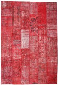 Patchwork Rug 201X296 Authentic  Modern Handknotted Crimson Red/Pink/Rust Red (Wool, Turkey)