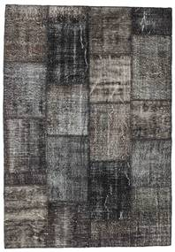 Patchwork Rug 162X233 Authentic  Modern Handknotted Dark Grey/Dark Brown (Wool, Turkey)