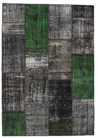 Patchwork Rug 160X229 Authentic  Modern Handknotted Black/Dark Grey (Wool, Turkey)