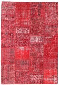 Patchwork Alfombra 159X229 Moderna Hecha A Mano Roja/Rosa/Óxido/Roja (Lana, Turquía)