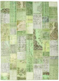 Patchwork Rug 252X346 Authentic  Modern Handknotted Light Green/Pastel Green Large (Wool, Turkey)