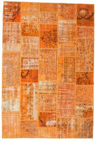 Patchwork Rug 201X299 Authentic  Modern Handknotted Orange/Light Brown (Wool, Turkey)