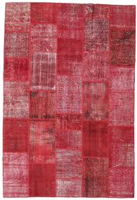 Patchwork Rug 201X301 Authentic  Modern Handknotted Crimson Red/Rust Red (Wool, Turkey)
