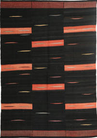 Kilim Modern Rug 157X237 Authentic  Modern Handwoven Black (Wool, Persia/Iran)