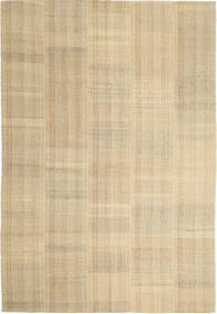 Kilim Modern Rug 204X300 Authentic  Modern Handwoven Light Brown/Dark Beige (Wool, Persia/Iran)