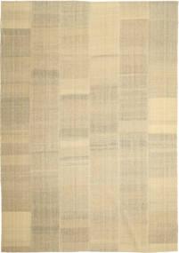 Kilim Moderne Tapis 246X355 Moderne Tissé À La Main Beige/Beige Foncé/Vert Clair (Laine, Perse/Iran)