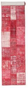Patchwork Rug 81X408 Authentic  Modern Handknotted Hallway Runner  Pink/Light Pink (Wool, Turkey)