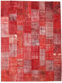 Patchwork Rug 304X403 Authentic  Modern Handknotted Dark Red/Rust Red Large (Wool, Turkey)