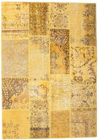 Patchwork Rug 141X200 Authentic Modern Handknotted Light Brown/Yellow (Wool, Turkey)