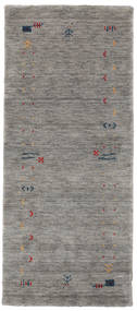 Gabbeh Loom Frame - Grey Rug 80X200 Modern Hallway Runner  Light Grey/Dark Grey (Wool, India)