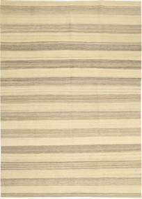 Kilim Nowoczesne Dywan 174X246 Nowoczesny Tkany Ręcznie Beżowy/Jasnoszary (Wełna, Persja/Iran)