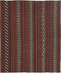 Kelim Moderni Matto 154X177 Moderni Käsinkudottu Tummanruskea/Tummanpunainen (Villa, Persia/Iran)