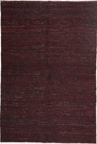 Kelim Modern Teppich  151X228 Echter Moderner Handgewebter Dunkelrot/Dunkelbraun (Wolle, Persien/Iran)
