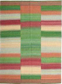 Kilim Nowoczesne Dywan 149X205 Nowoczesny Tkany Ręcznie Zielony/Oliwkowy/Ciemnoczerwony (Wełna, Persja/Iran)