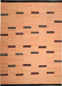 Kelim Moderni Matto 266X365 Moderni Käsinkudottu Tummanbeige/Vaaleanruskea Isot (Villa, Persia/Iran)