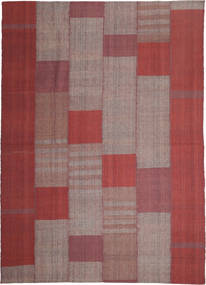 Kilim Modern Rug 253X350 Authentic  Modern Handwoven Brown/Light Brown Large (Wool, Persia/Iran)