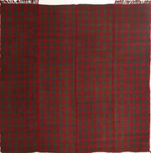 Kelim Moderni Matto 195X208 Moderni Käsinkudottu Neliö Tummanpunainen/Tummanvihreä (Villa, Persia/Iran)
