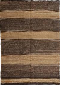 Kelim Moderni Matto 186X276 Moderni Käsinkudottu Tummanruskea/Vaaleanruskea/Ruskea (Villa, Persia/Iran)