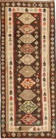 Kelim Moderne Teppe 119X304 Ekte Moderne Håndvevd Teppeløpere Lysbrun/Mørk Brun (Ull, Persia/Iran)