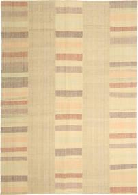 Kelim Moderni Matto 208X304 Moderni Käsinkudottu Tummanbeige/Beige/Vaaleanruskea (Villa, Persia/Iran)