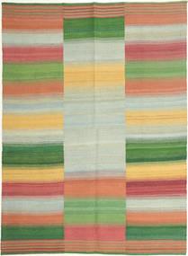 Kilim Nowoczesne Dywan 149X203 Nowoczesny Tkany Ręcznie Pastel Zielony/Czerwony (Wełna, Persja/Iran)