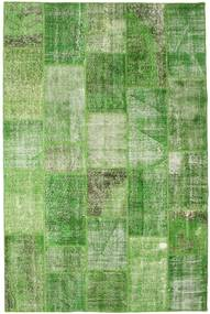 Patchwork Rug 201X302 Authentic  Modern Handknotted Light Green/Green /Pastel Green (Wool, Turkey)