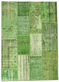 Patchwork Rug 141X199 Authentic  Modern Handknotted Light Green/Dark Green/Green  (Wool, Turkey)