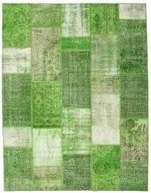 Patchwork Matto 202X257 Moderni Käsinsolmittu Vaaleanvihreä/Oliivinvihreä (Villa, Turkki)